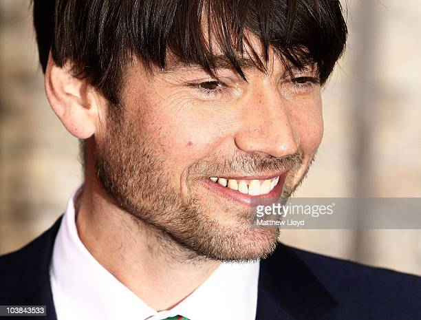 British musician Alex James arrives at the National Lottery Awards 2010 held at the Camden Roundhouse on September 4 2010 in London England The...