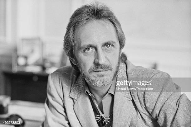 British musician and bass player John Entwistle from rock group The Who posed on 9th November 1984