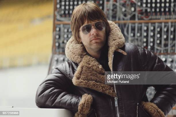 British musician and composer Keith Emerson of Emerson, Lake and Palmer during rehearsals for the band's 'Works' tour, at the Olympic Stadium,...