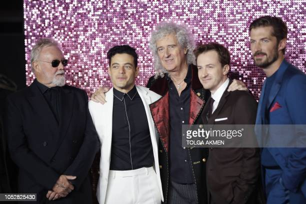 British musician and drummer of the rock band Queen Roger Taylor US actor Rami Malek British musician and lead guitarist of the rock band Queen Brian...