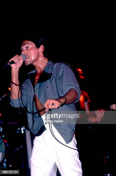 British musician Andy Fraser performs on stage at the Park West Auditorium Chicago Illinois September 12 1984