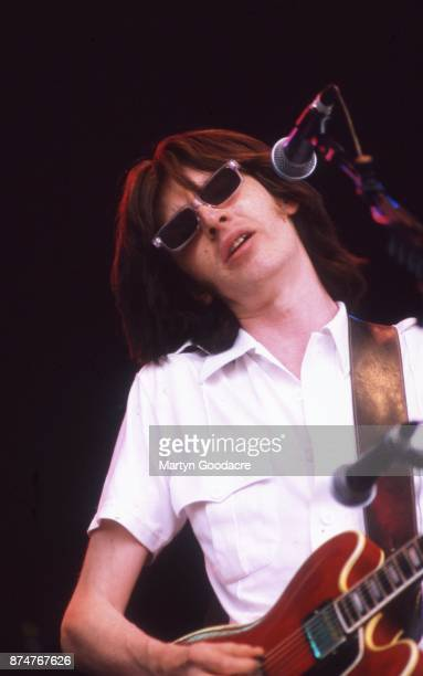 British musician Bernard Butler performs on stage at Finsbury ParkLondon 25th July 1998