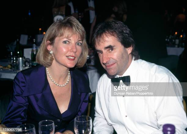 British musician Chris de Burgh with his wife Diane Davison attending Allan Lamb's Cricket Gala Benefit Dinner at the Grosvenor House Hotel in...