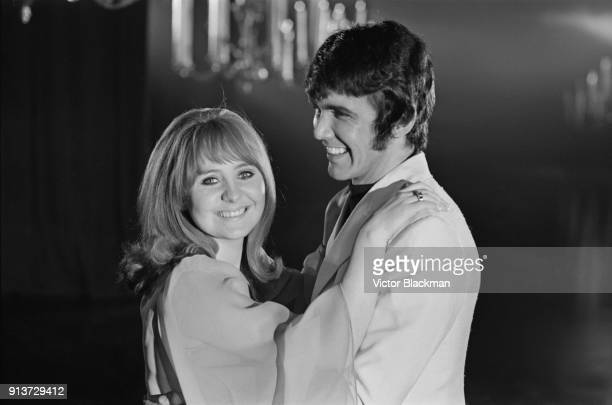 British musician Dave Clark with British singersongwriter Lulu on set of television movie 'Hold On It's The Dave Clark Five' UK 31st January 1968