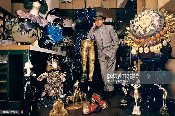 British musician Elton John puts the contents of his home under auction at Sotheby's London 1988