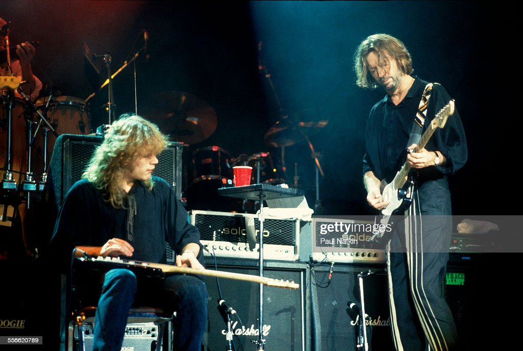 Clapton & Healy On Stage : News Photo