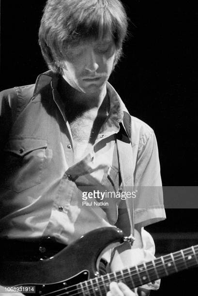 British musician James Honeyman-Scott , of the group Pretenders, plays guitar as he performs at the Park West, Chicago, Illinois, April 25, 1980.