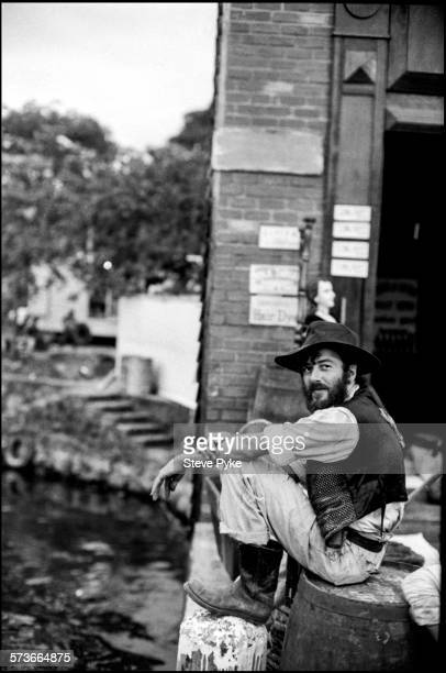 British musician Joe Strummer formerly lead singer of the Clash in Nicaragua 1986 He is there to film the Acid Western 'Walker' directed by Alex Cox...