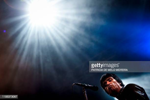 British musician Johnny Marr performs on the second day of the 2019 Alive Festival in Oeiras in the outskirts of Lisbon on July 12 2019
