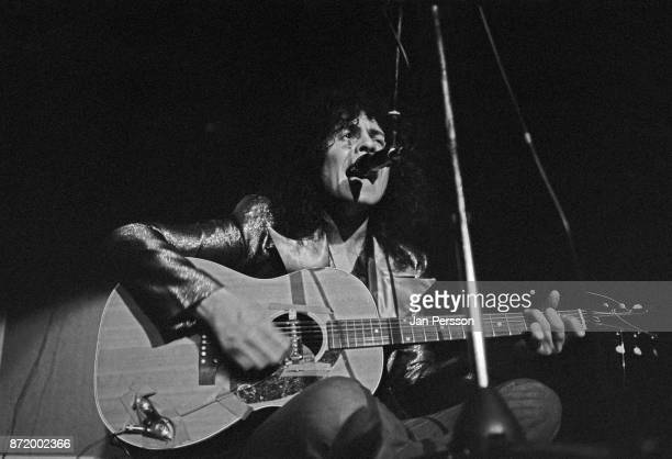 British musician Marc Bolan of T Rex performing in concert Copenhagen Denmark 1972