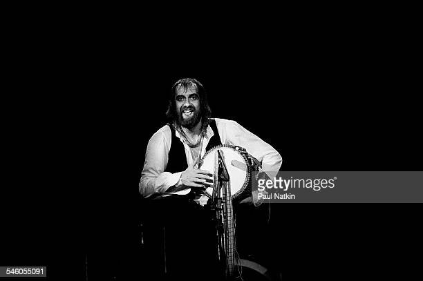 British musician Mick Fleetwood of the group Fleetwood Mac performs onstage at the Rosemont Horizon Rosemont Illinois May 14 1980