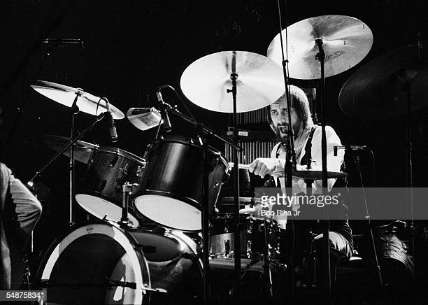 British musician Mick Fleetwood of the group Fleetwood Mac performs onstage at the Los Angeles Forum Inglewood California December 6 1979