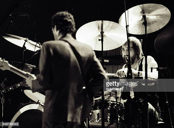 British musician Mick Fleetwood of the group Fleetwood Mac performs onstage at the Los Angeles Forum Inglewood California December 6 1979 In the...
