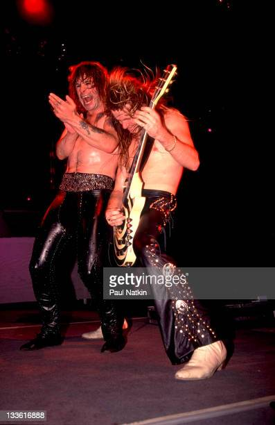 British musician Ozzy Osbourne and American guitarist Zakk Wylde perform at the Poplar Creek Music Theater in Hoffman Estates, Chicago, Illinois,...