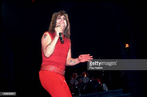 British musician Ozzy Osbourne performs at the Rosemont Horizon Rosemont Illinois January 24 1982