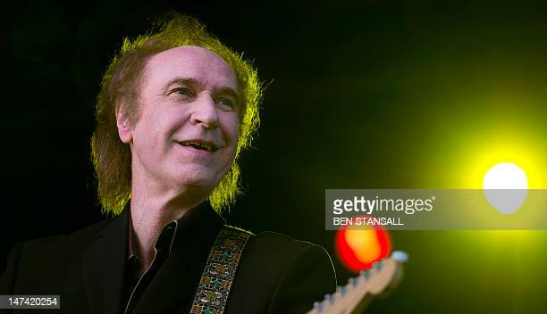 British musician Ray Davies performs during the first day of the Hop Farm music festival in Paddock Wood, Kent, on June 29, 2012. AFP PHOTO / BEN...