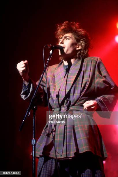 British musician Richard Butler of the Psychedelic Furs performs onstage at the Poplar Creek Music Theater Hoffman Estates Illinois July 23 1984
