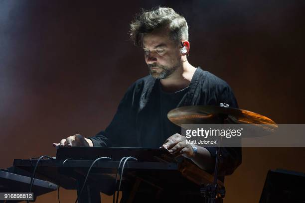 British musician Simon Green known as Bonobo performs on stage at St Jerome's Laneway Festival on February 11 2018 in Fremantle Australia