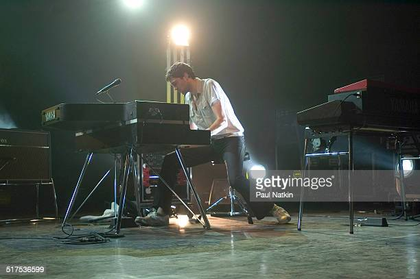 British musician Tim RiceOxley of the band Keane performs onstage at the Riviera Theater Chicago Illinois February 17 2005