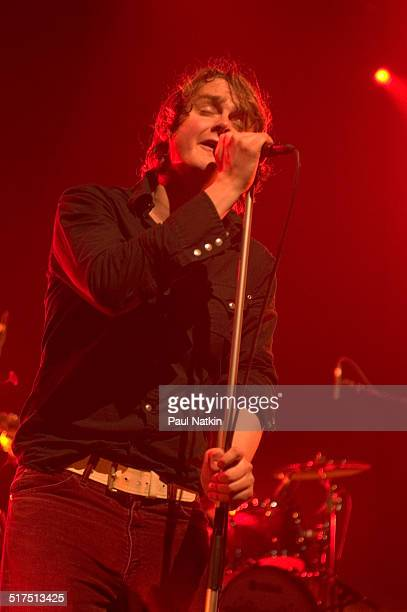 British musician Tom Chaplin of the band Keane performs onstage at the Riviera Theater Chicago Illinois February 17 2005