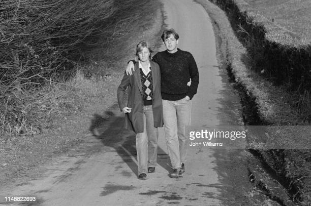 British musicians Paul and Linda McCartney pictured together in the countryside UK 19th January 1984