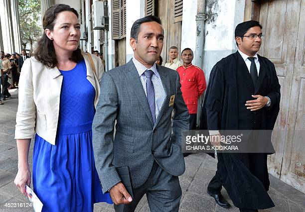 British national Nasir Shaikh the brother of murdered British tourist Khuram Shaikh leaves after the sentencing of ruling party politician Sampath...