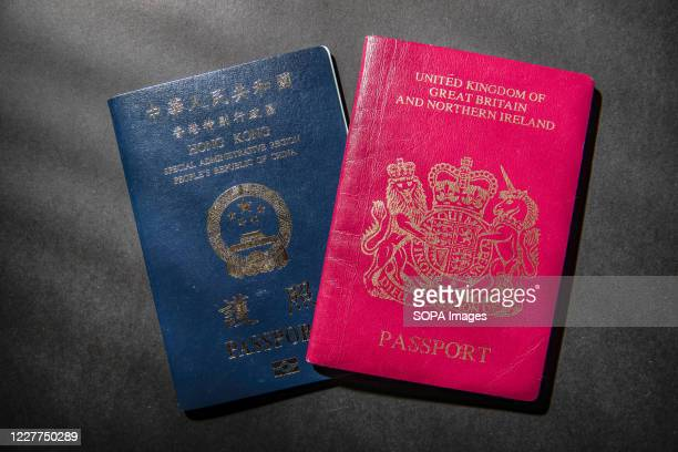 British National Oversea passport and Hong Kong passport displayed. Britain reported on Wednesday that it will start accepting visa applications from...