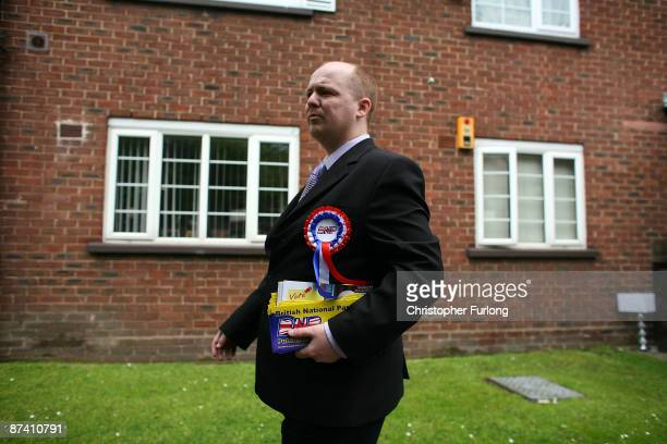 British National Party candidate Gary Tumulty canvasses for votes in the Irwell Riverside by-election, in the constituency of Labour minister Hazel...