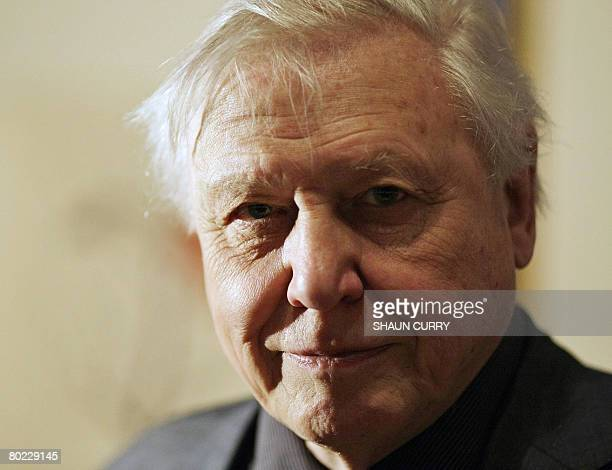 British naturalist and broadcaster Sir David Attenborough attends a press view in Buckingham Palace for the Exhibition 'Amazing Rare Things' The...