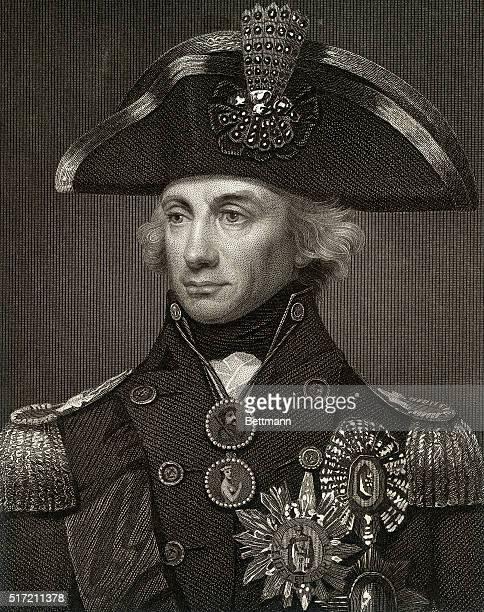 British naval officer Horatio Nelson shown in uniform