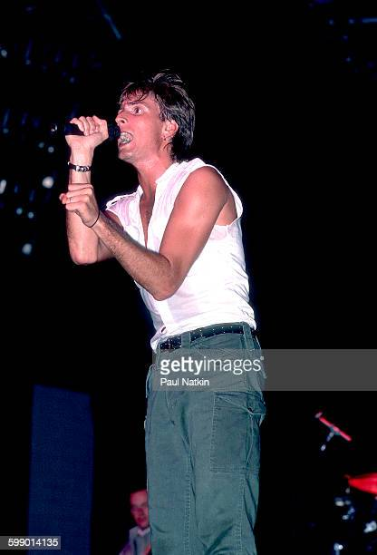 British New Wave musician Cy Curnin of the Fixx performs onstage at the Poplar Creek Music Theater Hoffman Estates Illinois July 5 1986