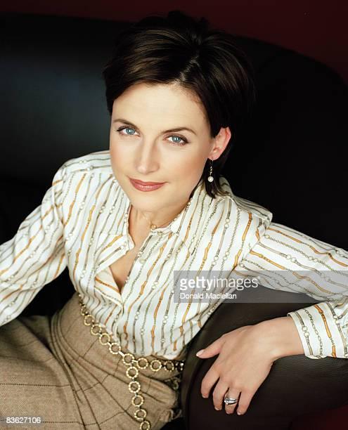 British newsreader Katie Derham, London, 20th December 2001.