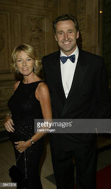 British newsreader Mary Nightingale and boyfriend arrive at the National TV Awards party at the Royal Albert Hall on October 15 2002 in London
