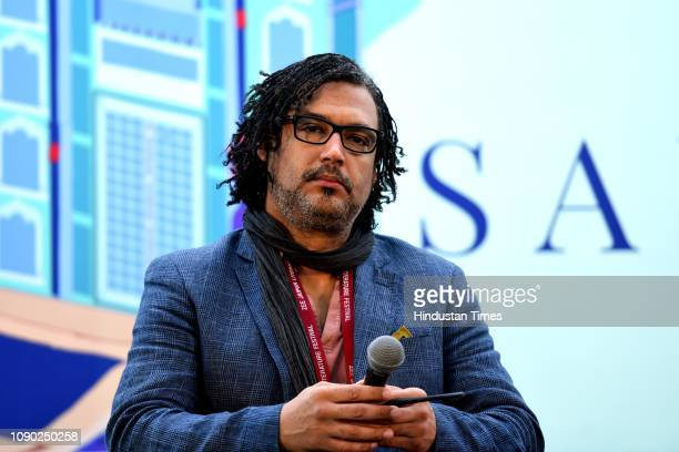 British Nigerian writer broadcaster presenter and filmmaker David Olusoga during The World's War Forgotten Soldiers of Empire session at the third...