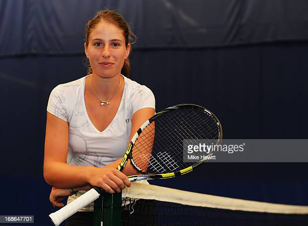 British no3 Johanna Konta poses for a portrait after preparing for Aegon International with Cardio Tennis at the Brighton Virgin Active and Racket...
