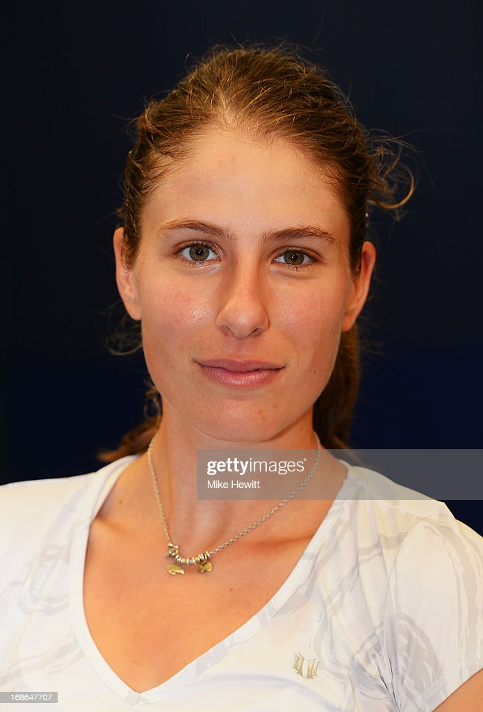 British no3 Johanna Konta poses for a portrait after preparing for Aegon International with Cardio Tennis at the Brighton Virgin Active and Racket Club on May 13, 2013 in Brighton, England.