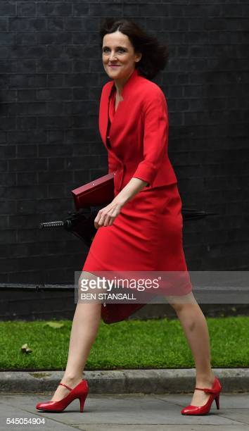 British Northern Ireland Secretary Theresa Villiers arrives to attend a cabinet meeting in central London on July 5 2016 In a move that sent world...