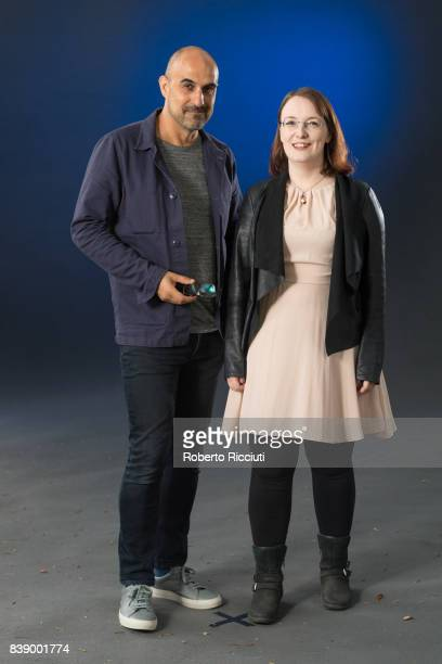 British novelist and journalist Hari Kunzru and Irish short story writer blogger and novelist Lisa McInerney attend a photocall during the annual...