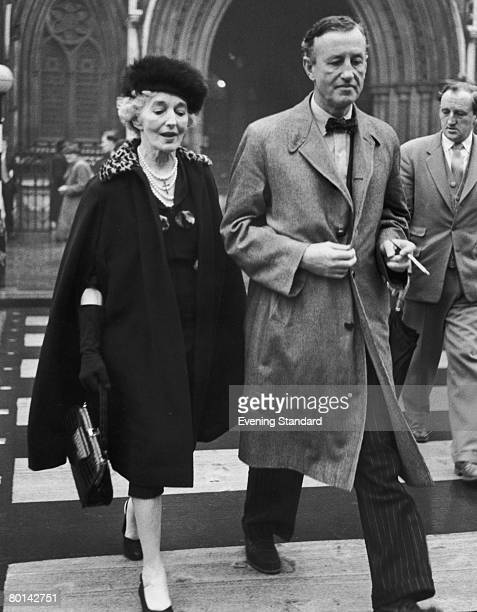 British novelist Ian Fleming with his mother Evelyn Ste Croix Fleming 11th November 1957