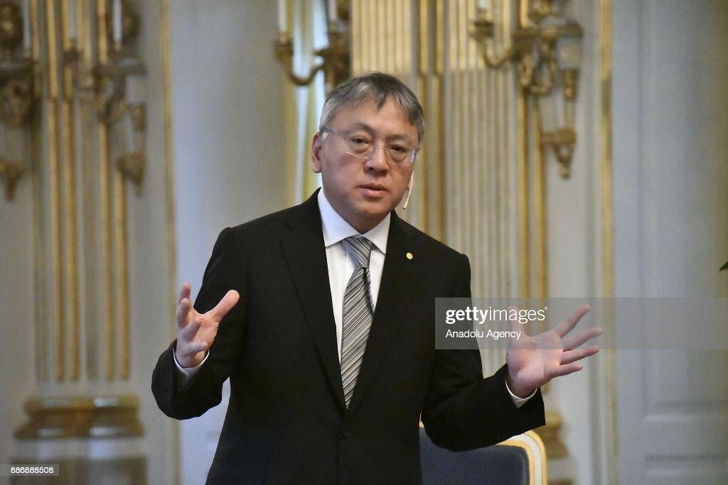 Nobel prize winner Kazuo Ishiguro in Stockholm : ニュース写真