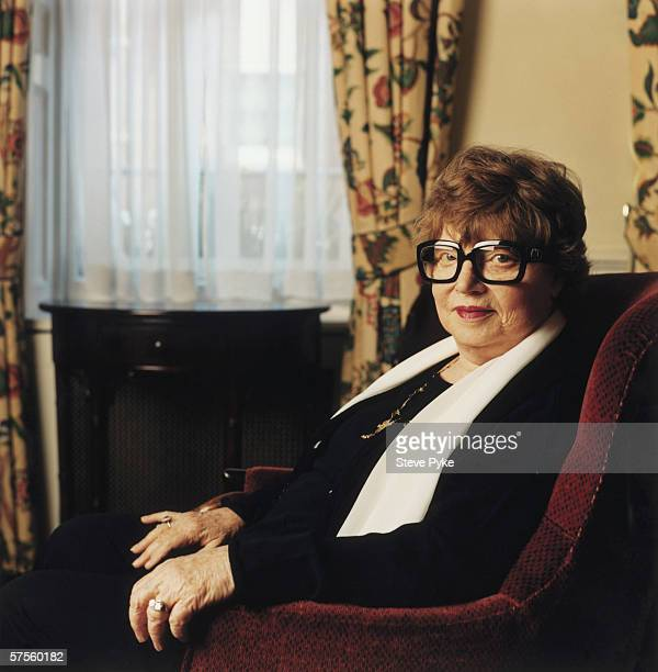 British novelist playwright and critic Muriel Spark most famous for her book 'The Prime of Miss Jean Brodie' March 1997