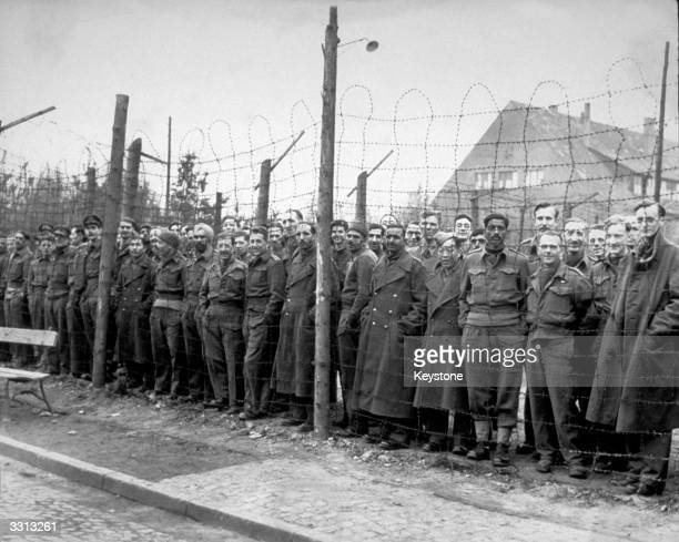 British officers liberated by the 9th Army from Brunswick Oflag 79 the largest British officers' camp in Germany