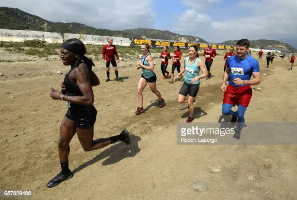 British Olympians Perri ShakesDrayton Jade Jones Jessica Varnish and Anthony Fowler compete in the Tough Mudder Half Los Angeles event on March 25...