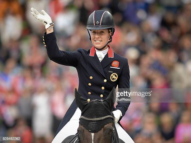 British Olympic and European champion Charlotte Dujardin riding Valegro wins the Dressage Grand Prix Special Individual Competition at the Alltech...