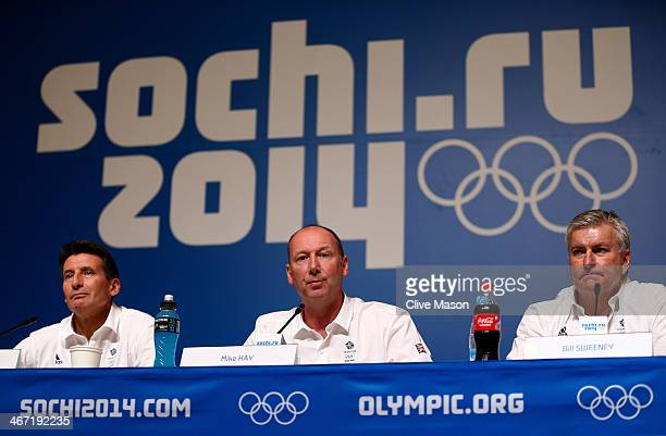 British Olympic Association chairman Lord Sebastian Coe Chef de Mission Mike Hay of Great Britain and Chief Executive Officer of the British Olympic...
