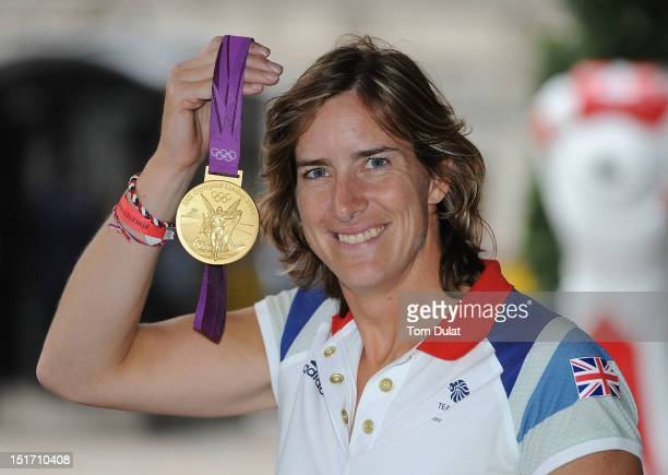British Olympic gold medal winning rower Katherine Grainger poses during the reception for Team GB and Paralympic GB athletes on September 10 2012 in...