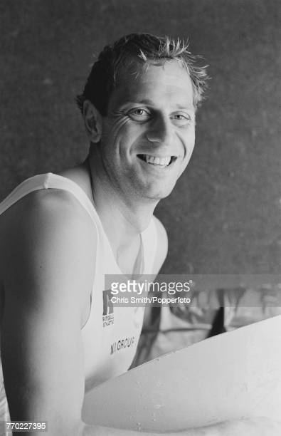 British Olympic gold medal winning rower Steve Redgrave posed in England on 6th May 1991