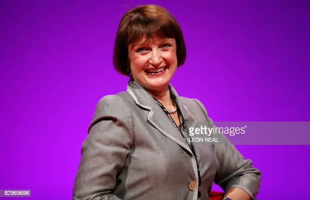 British Olympics Minister Tessa Jowell takes part in a debate in the Manchester Central venue at the 2008 Labour Party Conference in Manchester in...