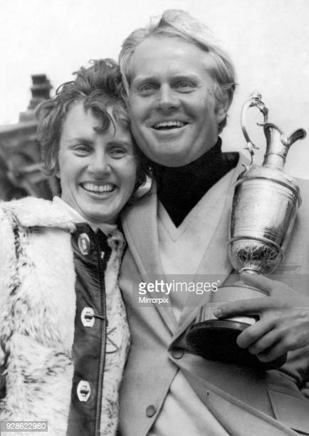 British Open 1970 St Andrews Sunday 12th July 1970 Jack Nicklaus and wife Barbara pictured with the trophy after winning his 2nd British Open Title...