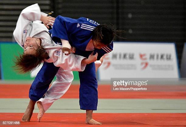 British open Judo at the SSE Arena Wembley UK Final 57KG Lea buet SEN v Nekoda Smythe Davis GBR